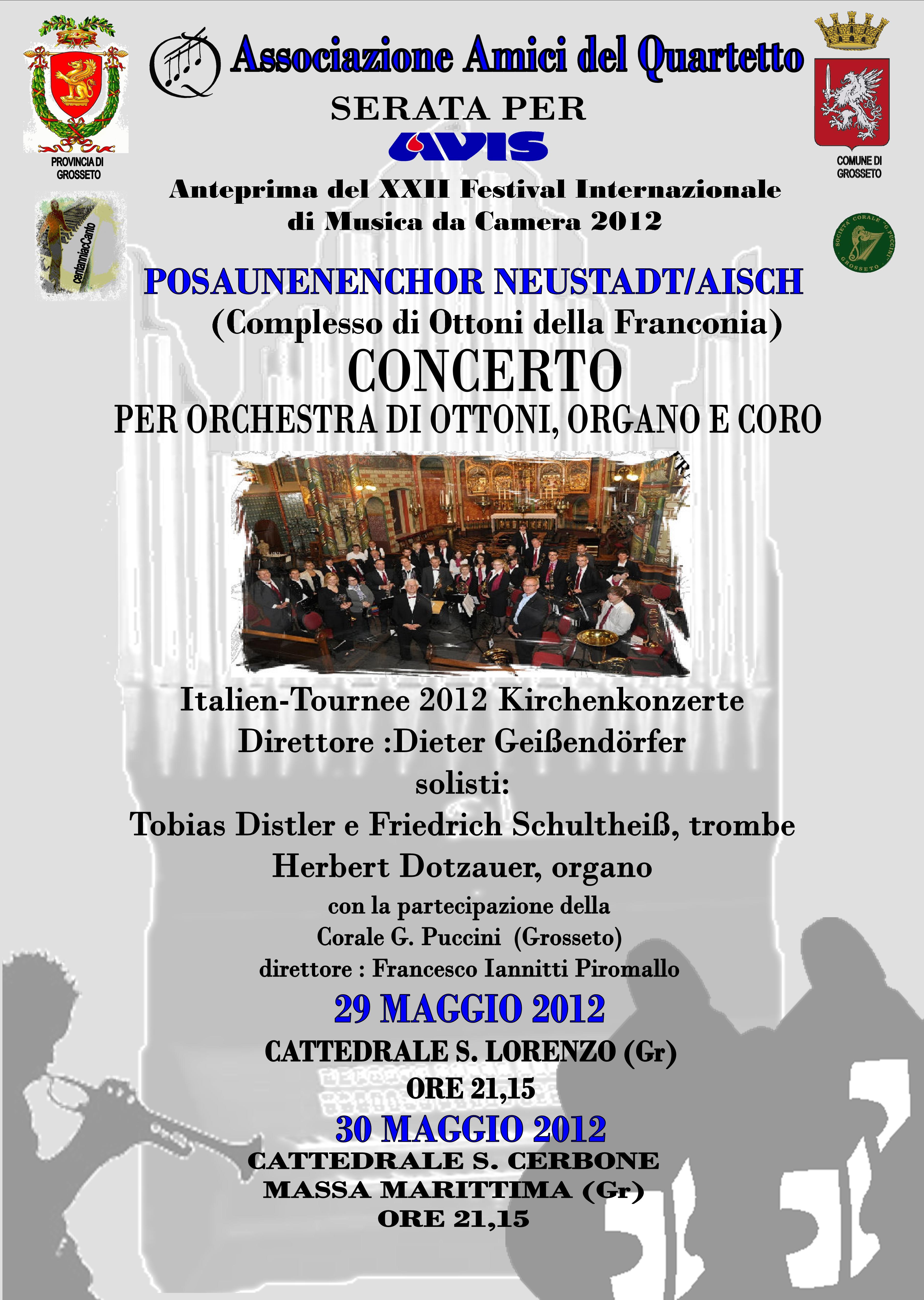 Concerto anteprima del XXII Festival Internazionale Musica da Camera 2012: Ottoni di Franconia e Corale Puccini