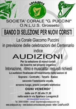 I nostri cento anni. Musica e canto, un secolo di Corale Puccini. Vieni a cantare con noi!! Audizioni ogni venerdì!