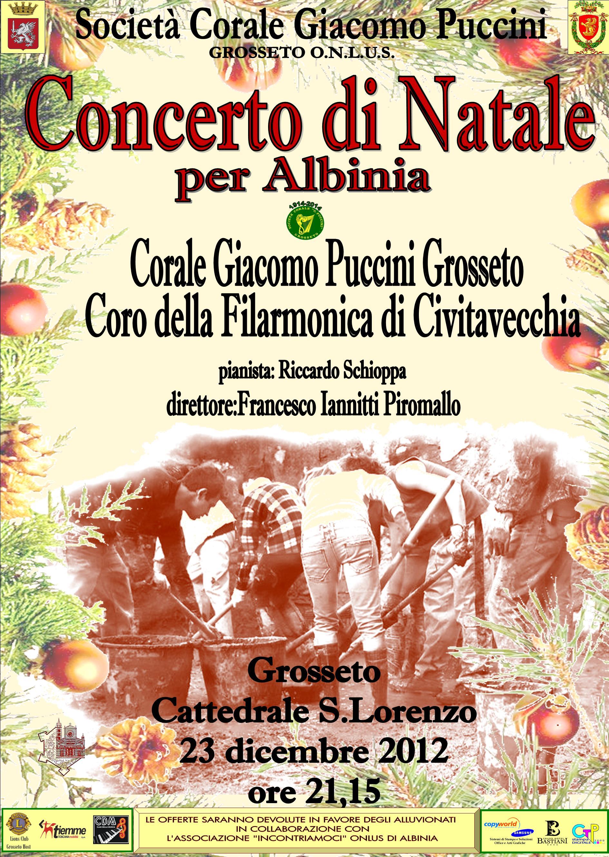 Concerto di Natale in Cattedrale di S. Lorenzo a Grosseto… per Albinia