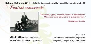 Quarto concerto della Rassegna Inverno Musicale Classico: Passioni Romantiche