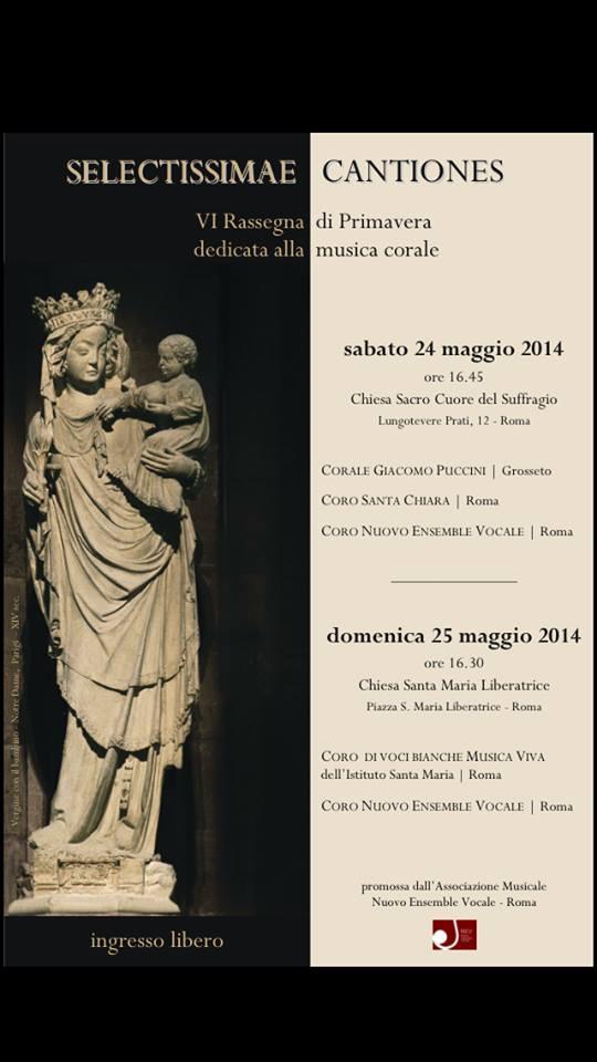 """""""Selectissimae cantiones"""" – VI^ Rassegna di Primavera – Roma"""