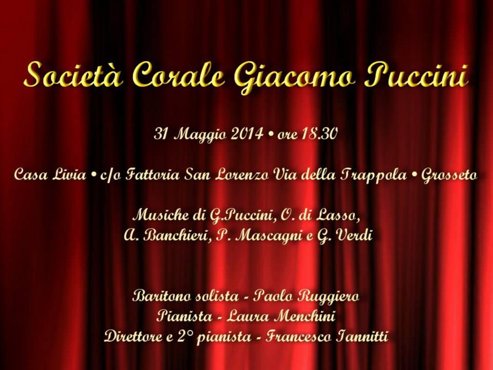 """Concerto conclusivo di """"Recondite Armonie"""": Corale Puccini, 31 maggio 2014"""