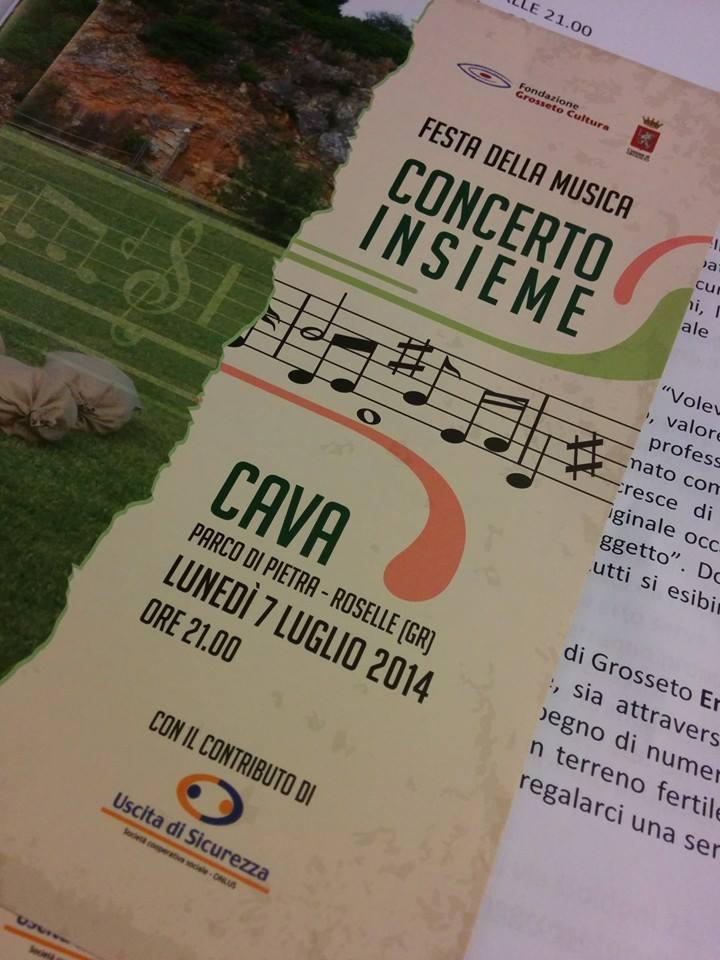 """Festa della Musica: """"Concerto Insieme"""", si riparte il 27 luglio ore 21:00 Cava di Roselle"""