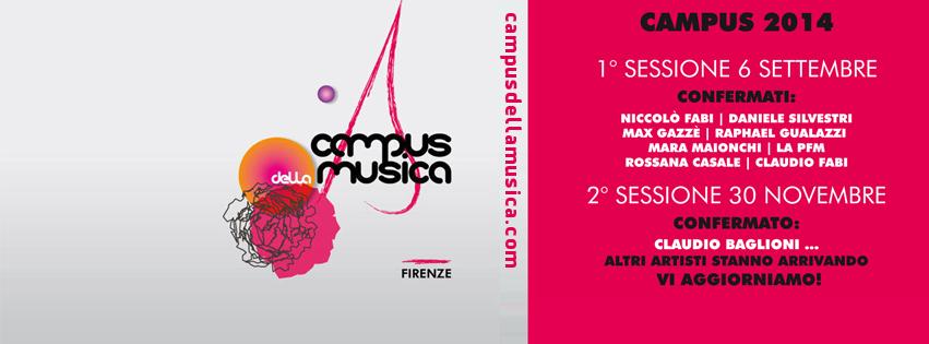 """..sul finire di questa estate """"bizzosa"""" sempre Musica, anzi anche Campus della Musica!"""