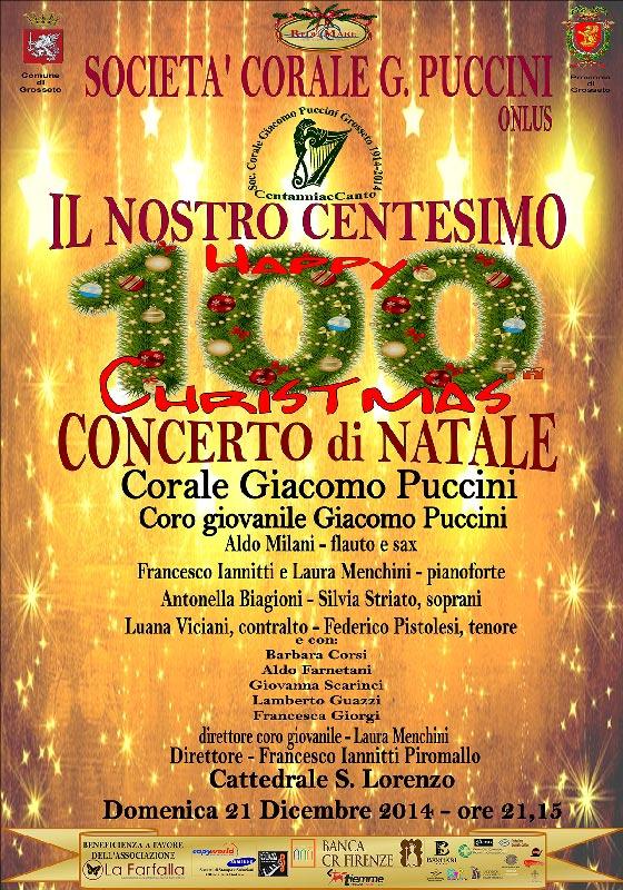 """Secondo appuntamento natalizio in Cattedrale San Lorenzo del 2014:  """"Il nostro centesimo Concerto di Natale – Happy Christmas"""""""