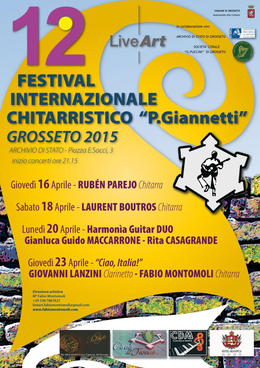 """… stay tuned: in arrivo il 12° Festival Internazionale Chitarristico """"Palmiero Giannetti"""""""