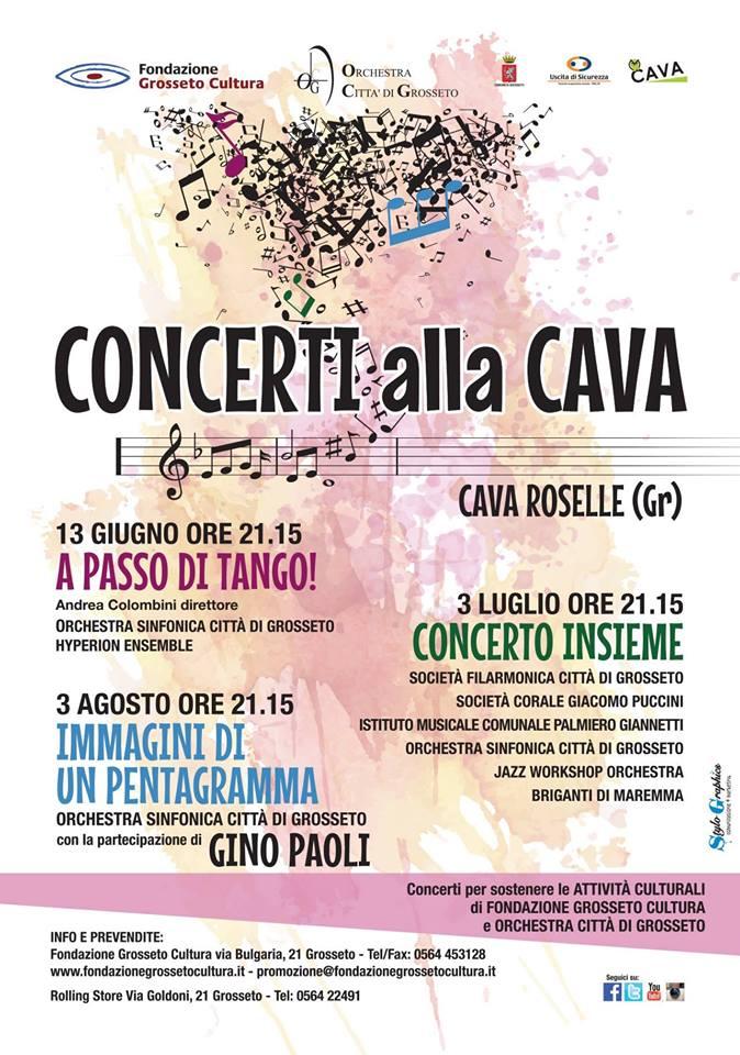 Concerto Insieme – II^ edizione – Cava di Roselle Venerdì 3 luglio, ore 21:15