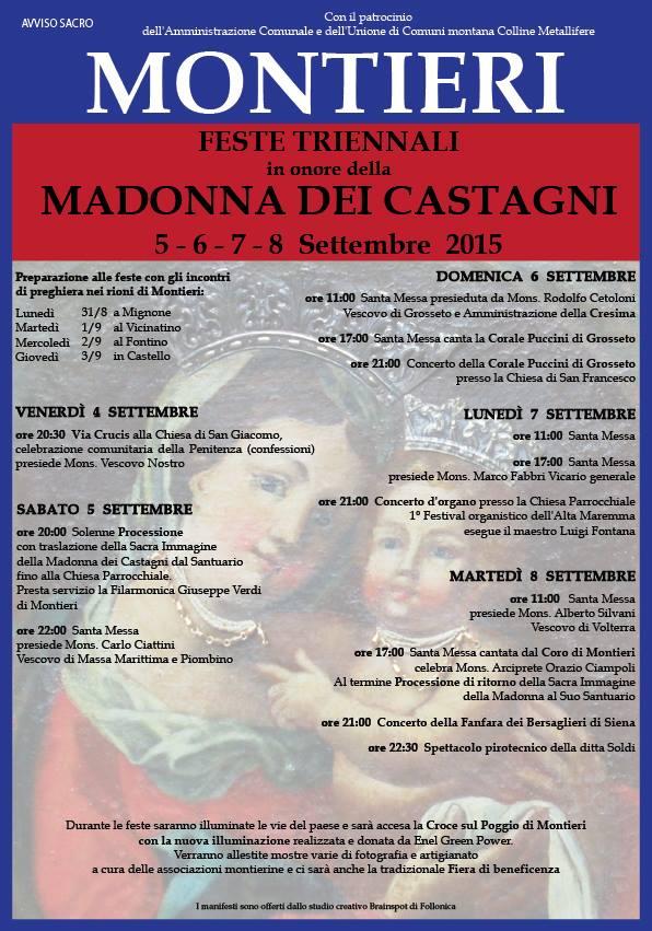 Feste Triennali Madonna dei Castagni – Montieri (GR)