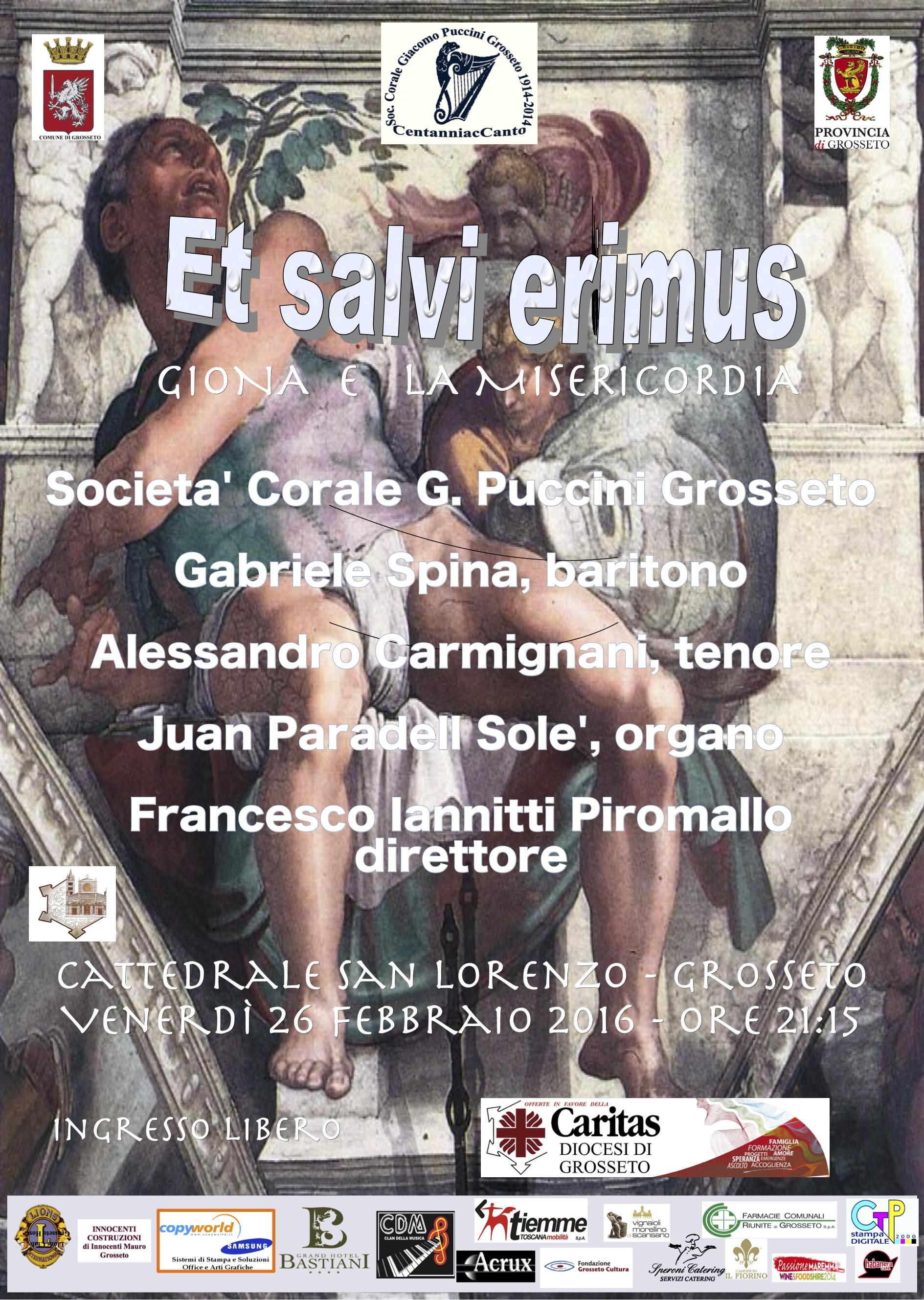 Et salvi erimus – Giona e la Misericordia, Cattedrale San Lorenzo in Grosseto, venerdì 26 febbraio 2016, ore 21:15