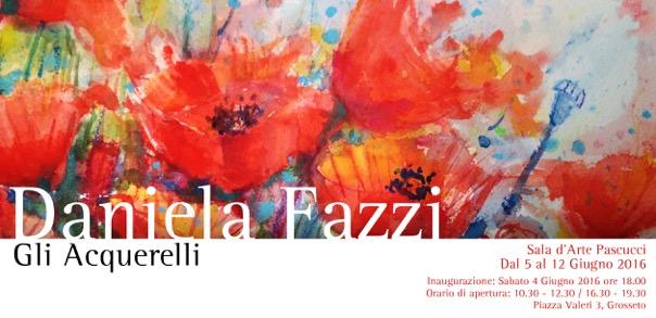"""Mostra """"Daniela Fazzi – Gli Acquerelli"""" – dal 5 al 12 giugno, Sala Pascucci, Grosseto"""