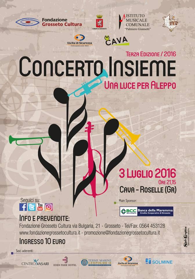 """""""Concerto Insieme"""": anche la terza edizione per far risplendere una luce per Aleppo"""
