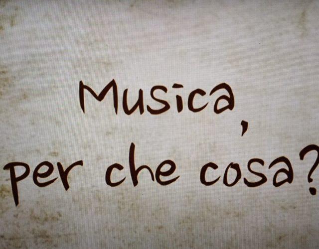 Musica, per cosa?